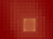 Goldene Quadrate auf rotem Auszug Stockfoto