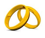 goldene Ringe 3D für Hochzeit 01 Lizenzfreie Stockbilder
