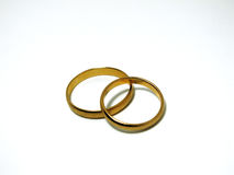 Goldene Ringe Stockfotos