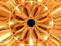 Goldene Rosette 5 Stockbilder