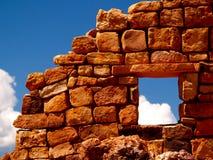 Goldene Ruinen Stockbild