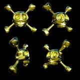 Goldene Schädel Stockbild