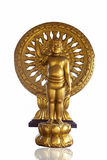 Goldene Schätzchen-Buddha-Statue lizenzfreies stockfoto