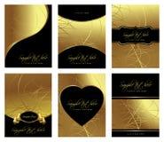 Goldene Schablonen Stockbild
