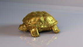 Goldene Schildkröte Stockfoto