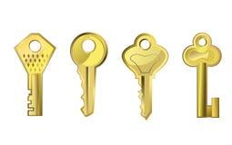 Goldene Schlüssel Lizenzfreie Stockfotografie
