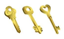 Goldene Schlüssel Stockfotografie