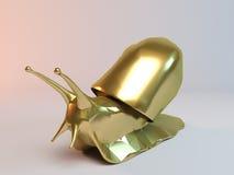Goldene Schnecke Stockfotografie