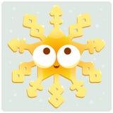 Goldene Schneeflocke der Weihnachtsdekoration Lizenzfreies Stockfoto