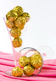Goldene Schokoladen Stockfotos