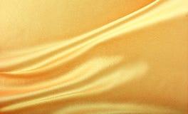 Goldene Seide Stockbild