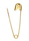 Goldene Sicherheitsnadel Lizenzfreie Stockbilder