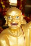 Goldene Skulptur-chinesische Götter im chinesischen Tempel bei Phitsanulok, Lizenzfreies Stockbild