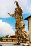 Goldene Skulptur an der Stärke di Belvedere in Florenz, Italien Lizenzfreie Stockfotos