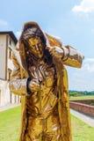 Goldene Skulptur an der Stärke di Belvedere in Florenz, Italien Stockfotografie