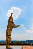 Goldene Skulptur an der Stärke di Belvedere in Florenz, Italien Lizenzfreies Stockbild