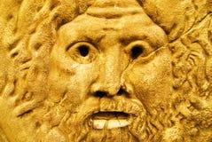 Goldene Skulptur von Zeus stockfotografie
