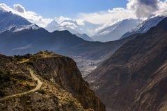 Goldene Spitze in Hunza, Pakistan stockfotos