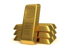 Goldene Stäbe Stockbilder