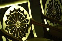 Goldene Stühle Stockfotos