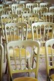 Goldene Stühle Lizenzfreie Stockbilder
