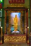 Goldene Statue der Göttin der Gnade Lizenzfreie Stockbilder