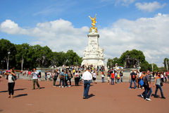 Goldene Statue Victoria Memorials Stockbild
