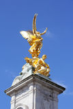 Goldene Statue Victoria Memorials Lizenzfreies Stockbild