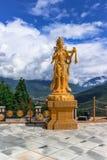 Goldene Statue von buddhistischen weiblichen Göttern an Tempel Buddhas Dordenma, Thimphu, Bhutan Lizenzfreies Stockfoto