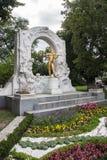 Goldene Statue von Johann Strauss Lizenzfreies Stockfoto