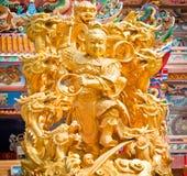 Goldene Statuen der Götter stockfotografie