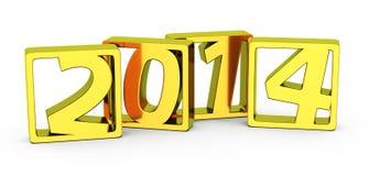 Goldene 2014 Rahmen Lizenzfreie Stockfotografie