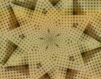 Goldene Stern-Kaleidoskoptapete Stockfotos