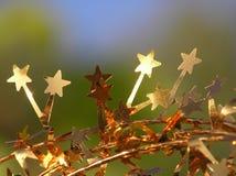 Goldene Sterne lizenzfreie stockfotografie