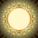 Goldene Sterne Lizenzfreies Stockfoto
