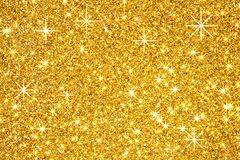 Goldene Sterne auf schwarzem Hintergrund lizenzfreie stockfotografie