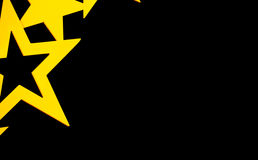 Goldene Sterne auf schwarzem Hintergrund Stockfoto