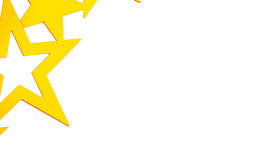 Goldene Sterne auf weißem Hintergrund Stockfotografie