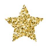 Goldene Sternvektorfahne Einfaches Formular Schablone, Karte, vip, ex vektor abbildung