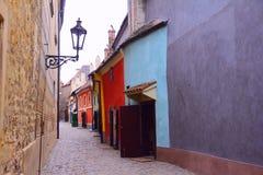 Goldene Straße, Prag Lizenzfreies Stockbild