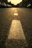 Goldene Straße Lizenzfreie Stockfotos