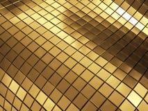 Goldene Streifenhintergrund-Wiedergabeillustration Stockfotografie