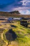 Goldene Stunde schaukelt bei Kimmeridge auf der Dorset-Küste Lizenzfreies Stockbild