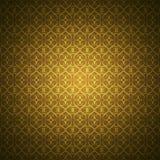 Goldene Tapete mit heart-shaped Verzierungen Stockbilder
