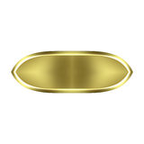 goldene Taste 3D Lizenzfreie Stockfotos