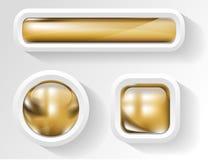 Goldene Tasten Lizenzfreie Stockbilder