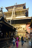 Goldene Tempel- oder Hiranya-Varna Mahavihar Pagode herein Stockfoto