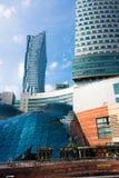 Goldene Terrassen (Zlote Tarasy), Warschau-Architektur Stockfotos