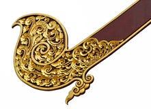 Goldene thailändische Artlinie Kunst stock abbildung
