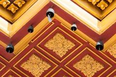 Goldene thailändische Artlinie Kunst lizenzfreie stockfotografie